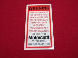 BRAKE FLUID DECAL XA XB